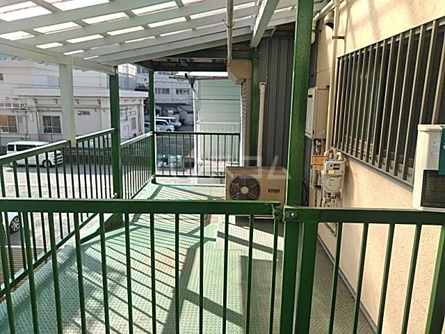 スカイハイツ 205号室のバルコニー