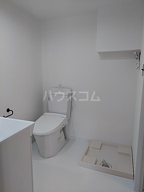 いろどりの杜 401号室のトイレ