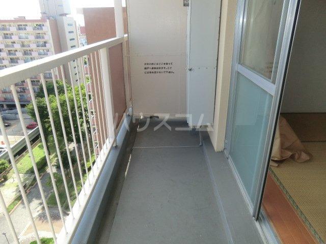 中駒九番団地 3号棟 1121号室のバルコニー