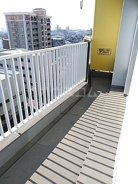 中駒九番団地 7号棟 1302号室のバルコニー