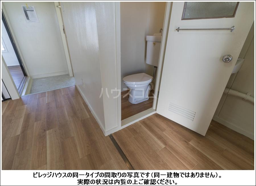 ビレッジハウス逆川1号棟 404号室のトイレ