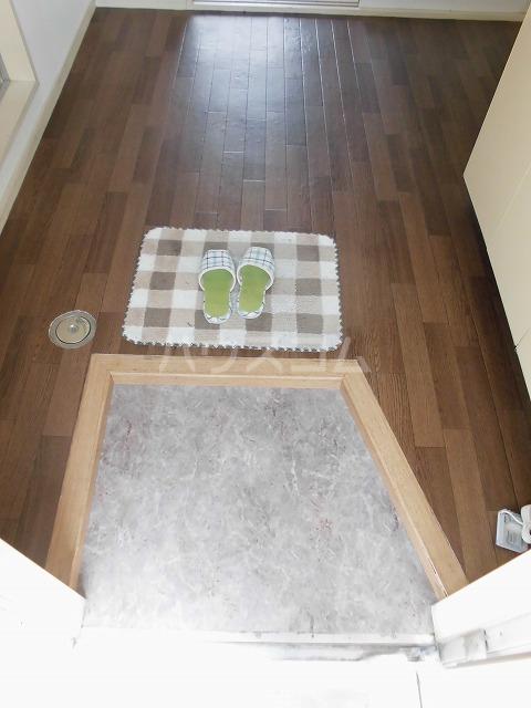 ウィングハイツ片貝 202号室の玄関