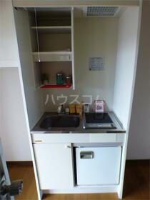 スペースエリア 203号室のキッチン