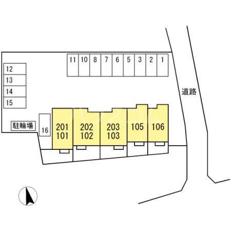 仮)D-room本野町の駐車場