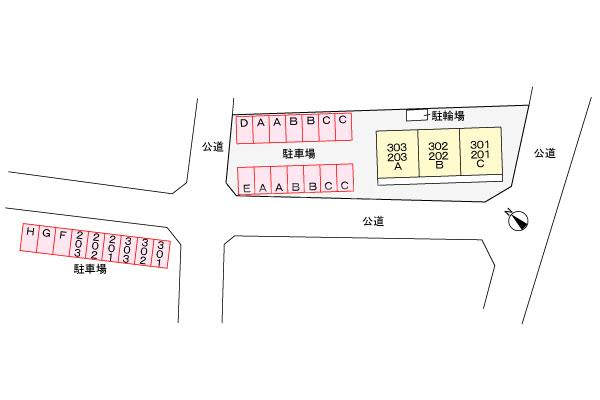 ロジュマン一宮 203号室の駐車場