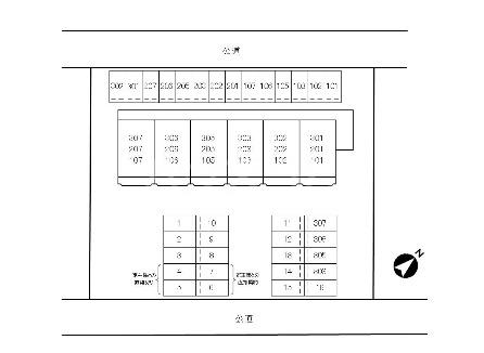 エスポワール永吉 202号室の駐車場