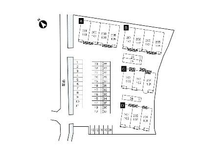 サンレミ・国森D 201号室の駐車場