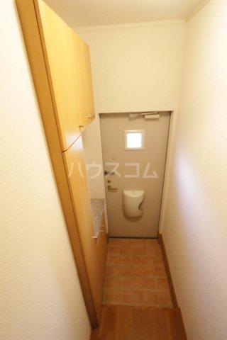 プラムポット 202号室の玄関
