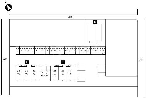 アルカンシエルⅠ 201号室の駐車場