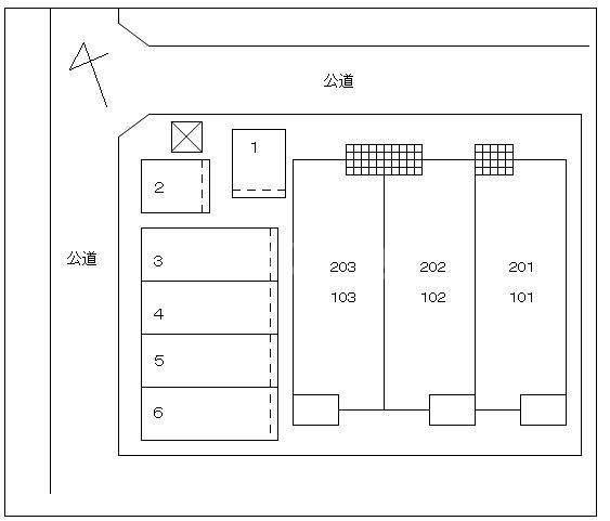 アルモニー 202号室の駐車場