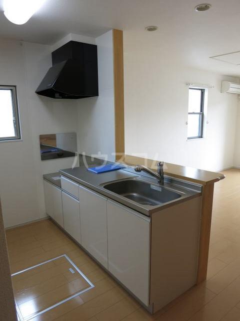アンソレイエ A 105号室のキッチン