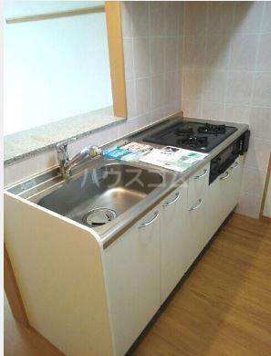 ハーベストウムサ 204号室のキッチン