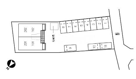 グランド チェリー 202号室の駐車場