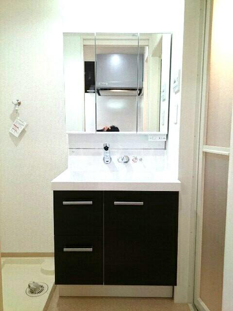 キュービックスター 504号室の洗面所