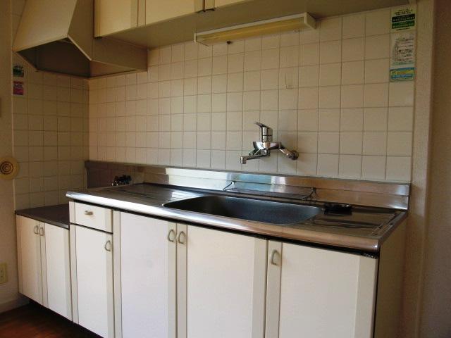 メゾン山手台A棟のキッチン