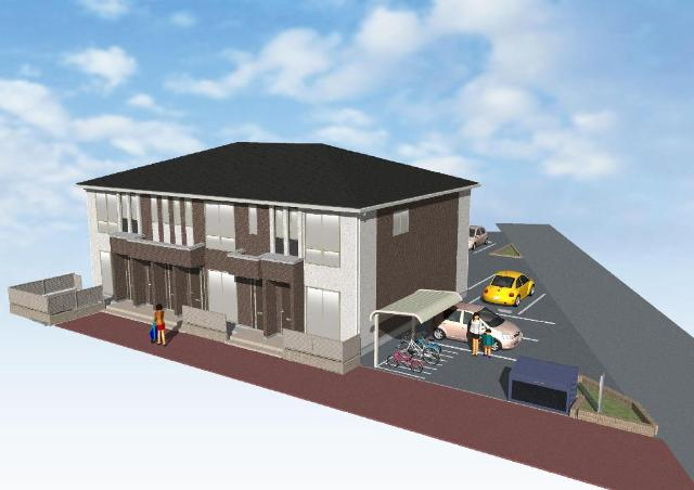 仮)日の出町新築アパート外観写真