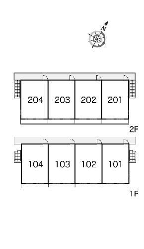 レオパレス戸祭2 204号室の設備