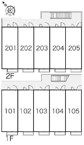 レオパレスフローラ 205号室のエントランス