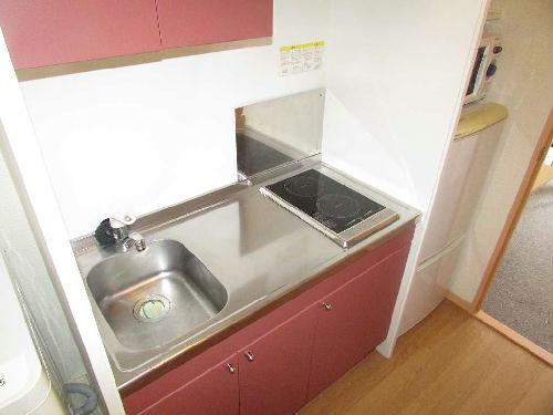 レオパレスソレイユ日比野 304号室のキッチン