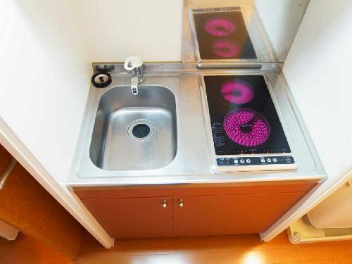 レオパレス弥勒寺Ⅱ 201号室のキッチン