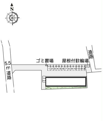レオネクストウテナ 101号室の駐車場