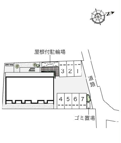 クレイノ寺津 204号室の駐車場