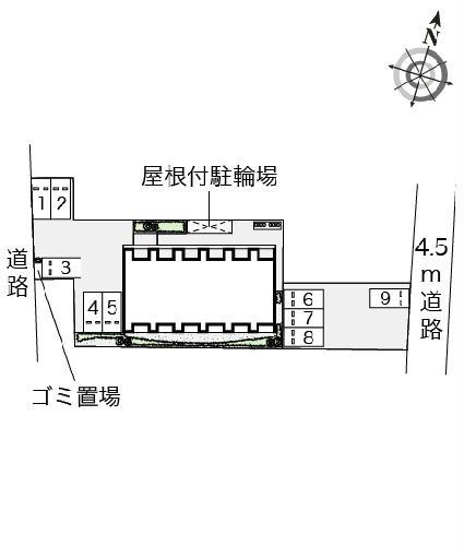 レオネクスト吉良吉田 205号室の駐車場