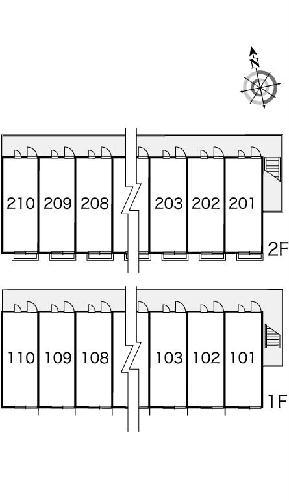 レオパレスコロモ 202号室のエントランス