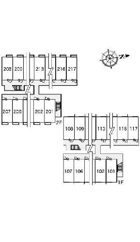 レオパレス大門 209号室の駐車場