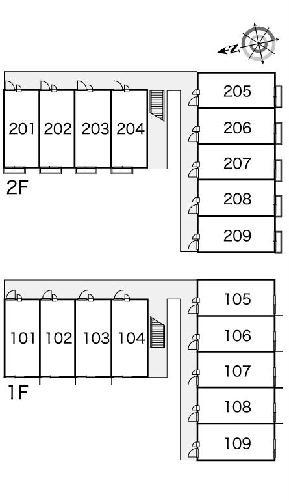 レオパレスルミエールⅡ 206号室の駐車場