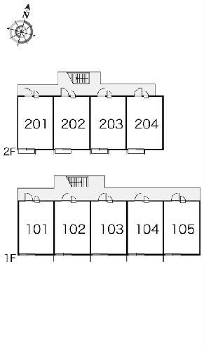 レオパレスガーデン 204号室のエントランス