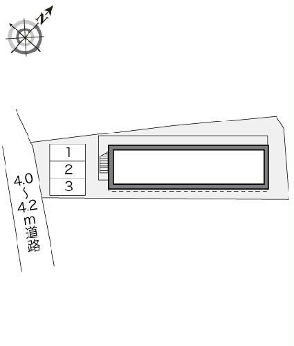 レオパレスナチュラルA 203号室の駐車場