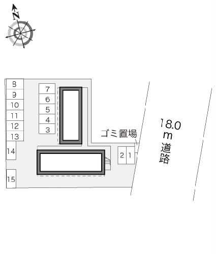 レオパレスMINA 102号室の駐車場