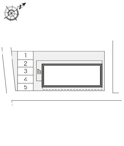 レオパレス筑紫 203号室の駐車場