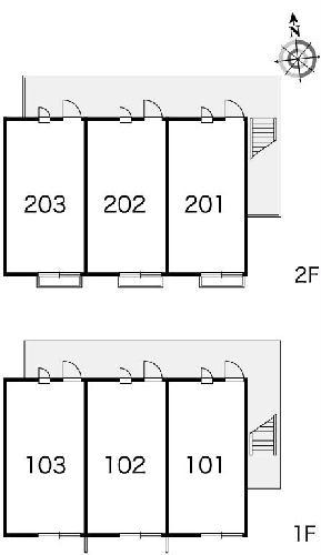 レオパレス西蔵前2 201号室のバルコニー
