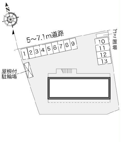 レオパレスM-47 302号室の駐車場