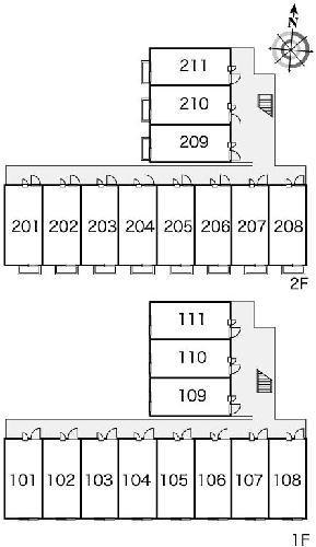 レオパレスシルバ コート 104号室のバルコニー