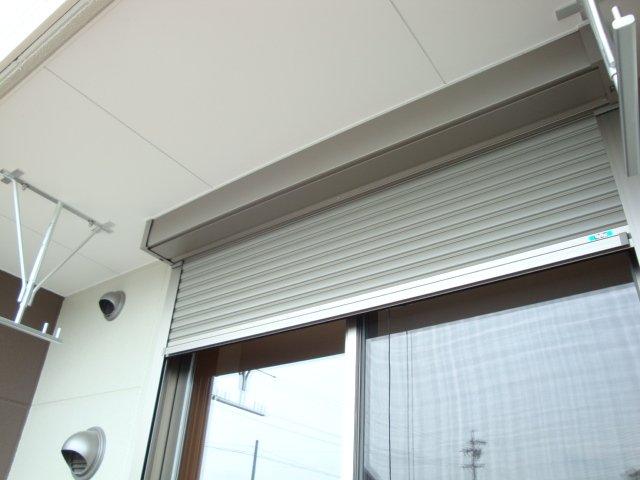 グラスフルールA 102号室のバルコニー