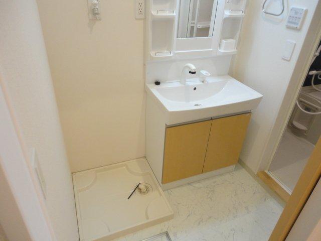 パンプキンフィールド 107号室の洗面所