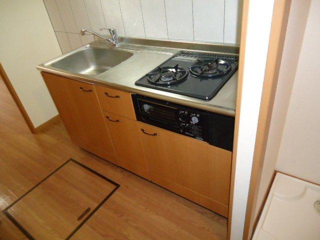 響 00101号室のキッチン