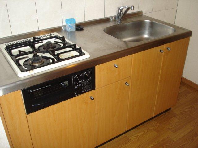 樹里庵 102号室のキッチン