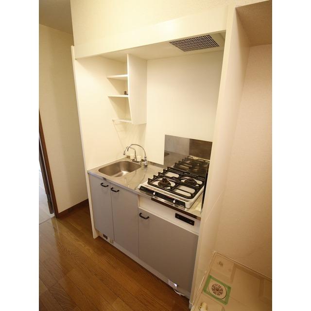 アムール YABE 202号室のキッチン