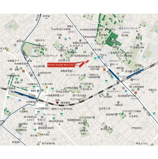 ROYGENT SUGAMO EAST 108号室の地図