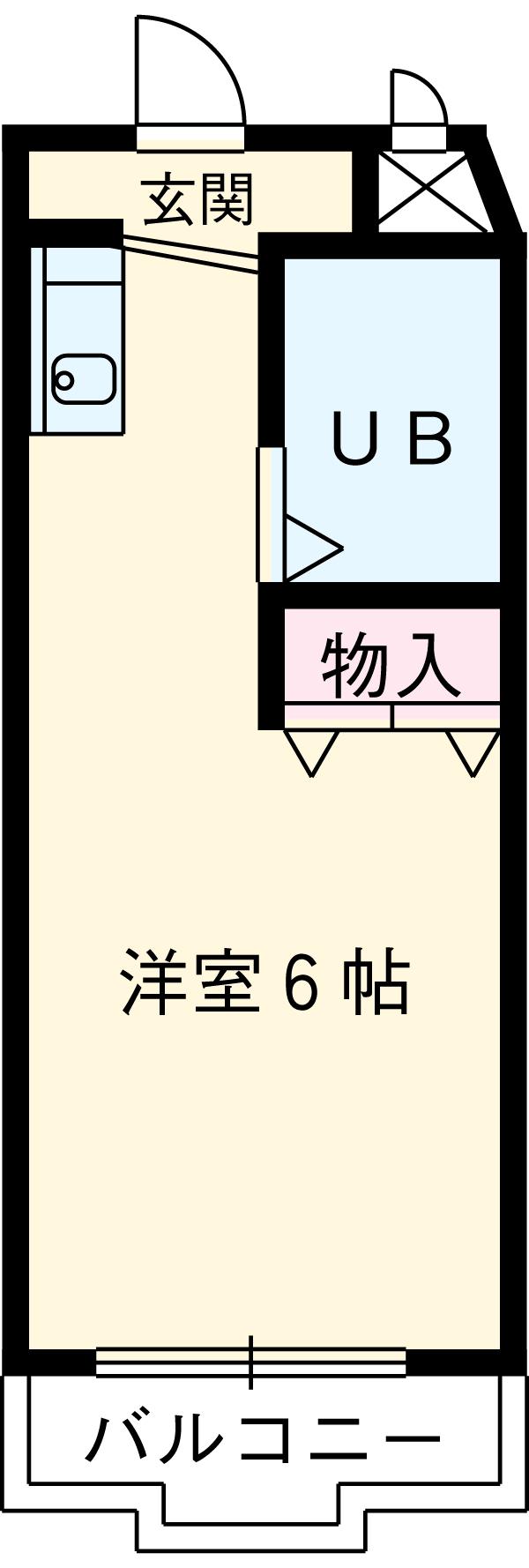 フジヤステーションコート浜松 1005号室の間取り