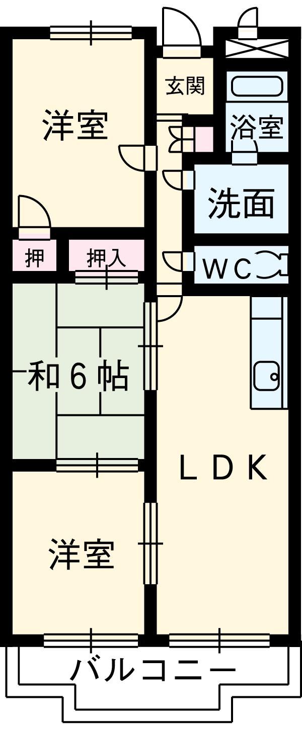 第3高杉マンション 302号室の間取り