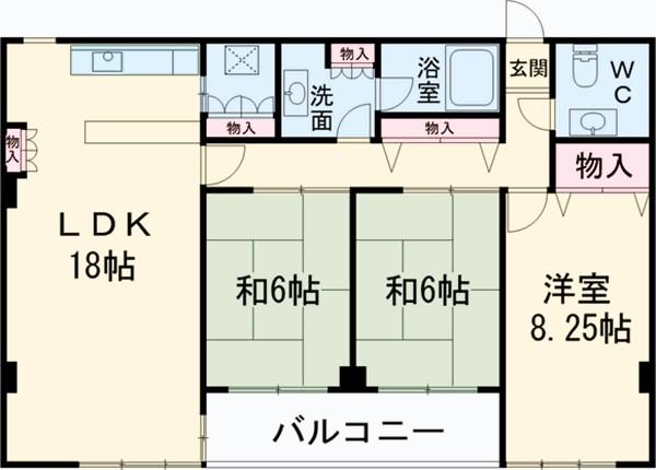エド・コモン西早稲田 502号室の間取り