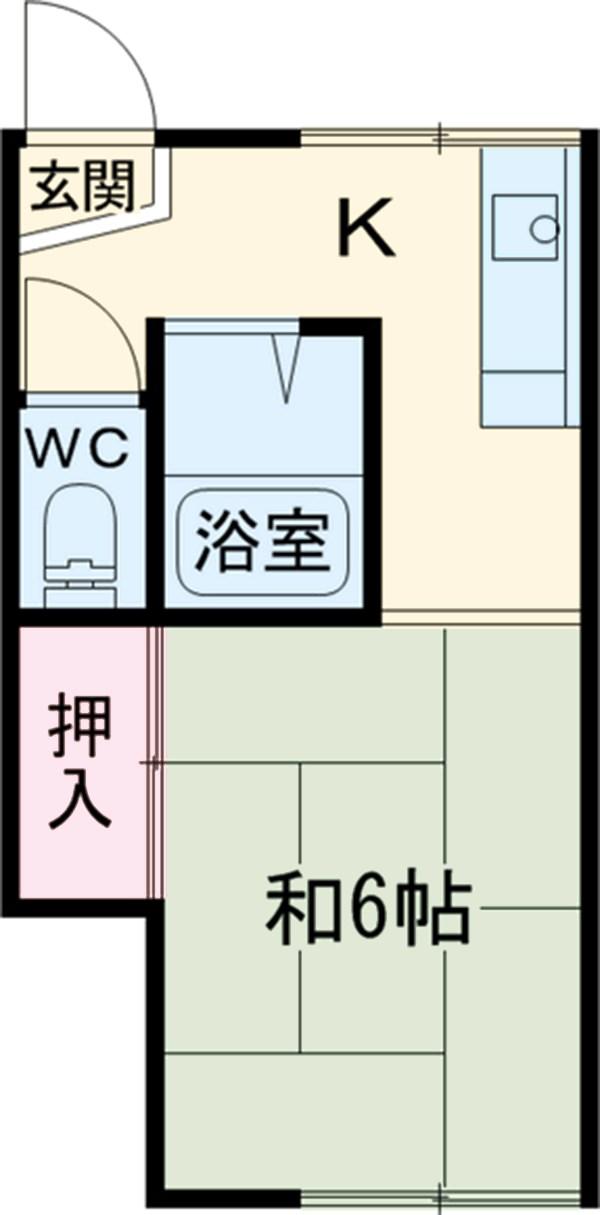江戸川荘 203号室の間取り