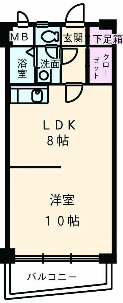 セジューネトーシ 4A号室の間取り