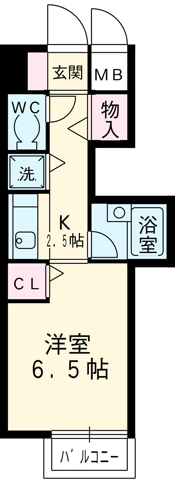 レーヴェ K&M 4C号室の間取り