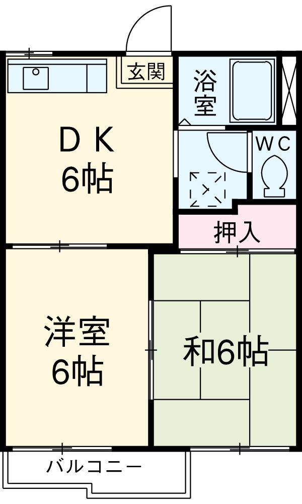 タウニーITO 203号室の間取り
